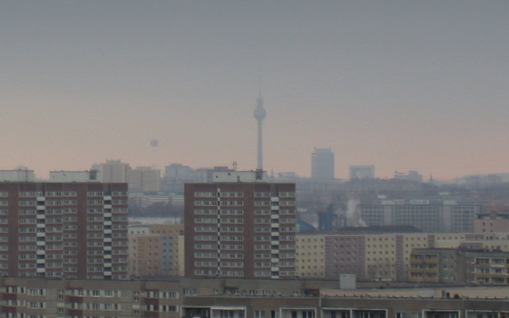 Berlin Marzahn Skyline Fensehturm