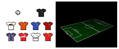 Fussball-Icons und Wallpaper