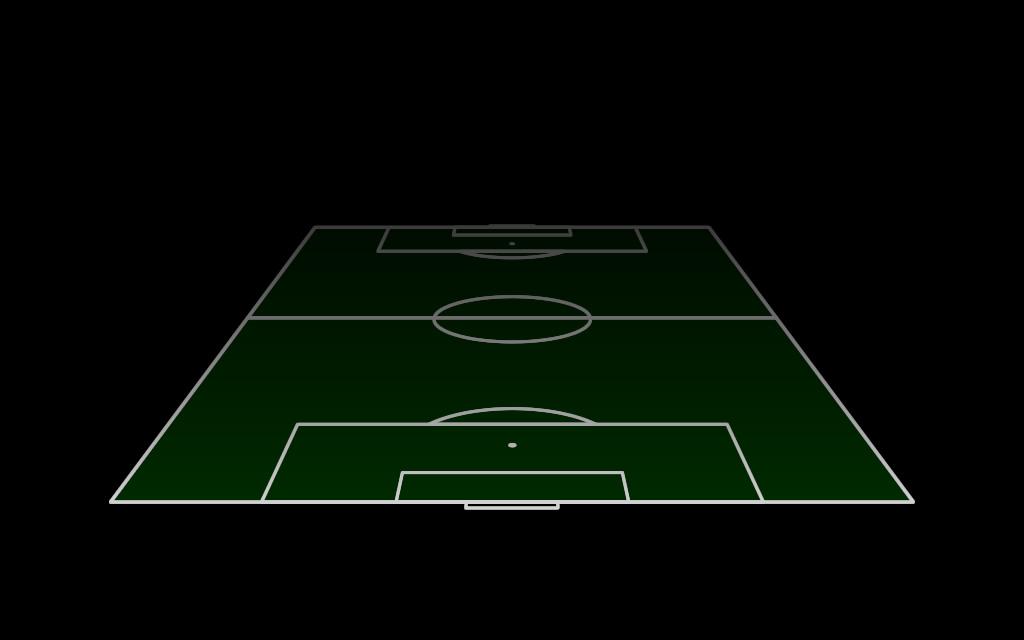 Fussballfeld Aufstellung