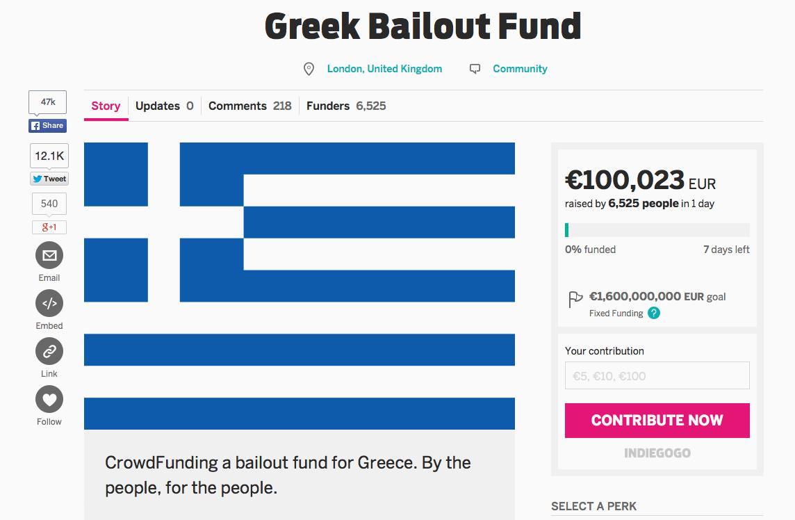 Griechenland Crowdfunding-Aktion